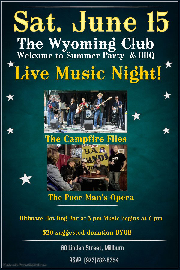 Poster for June 15th show with The Campfire Flies and The Poor Man's Opera