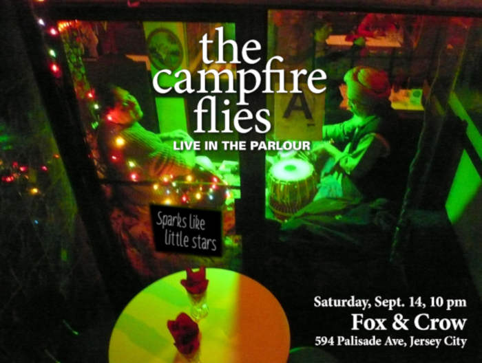 Poster for The Campfire Flies' show at Fox and Crow, 9/14/19
